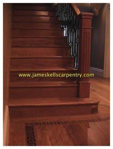newel post on stairs