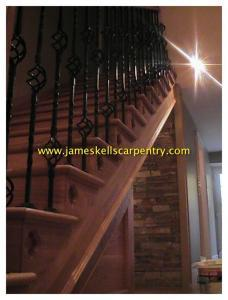 oak stairs with steel spindles